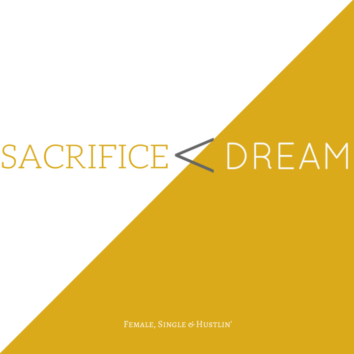 SACRIFICE less than DREAM
