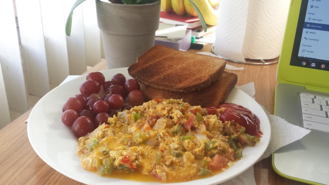Foodie Friday Scramble Omelet