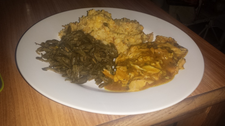 Salmon, Rice, Green Beans